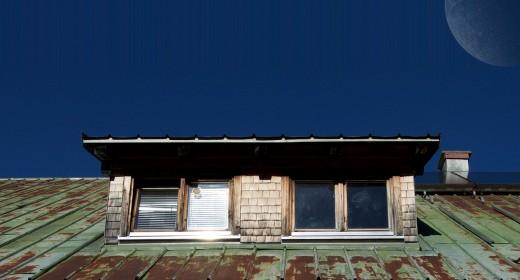 Attic roof.
