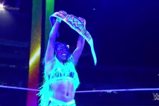 I'm somewhat miffed that this is her second SmackDown title win, but I'm still happy regardless.