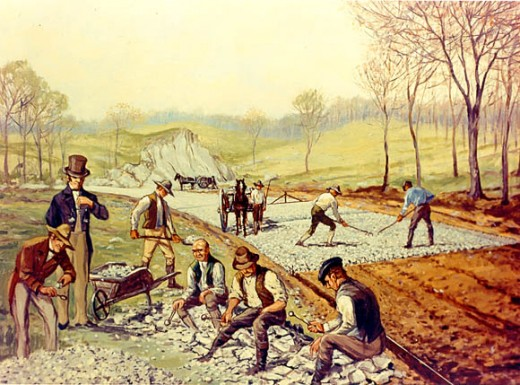 First American Macadam Road (Maryland, USA, 1823). Artist: Carl Rakeman.