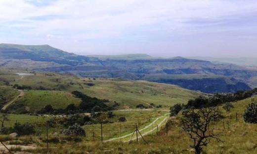 Road to Kerkenhof, KwaZulu-Natal, South Africa
