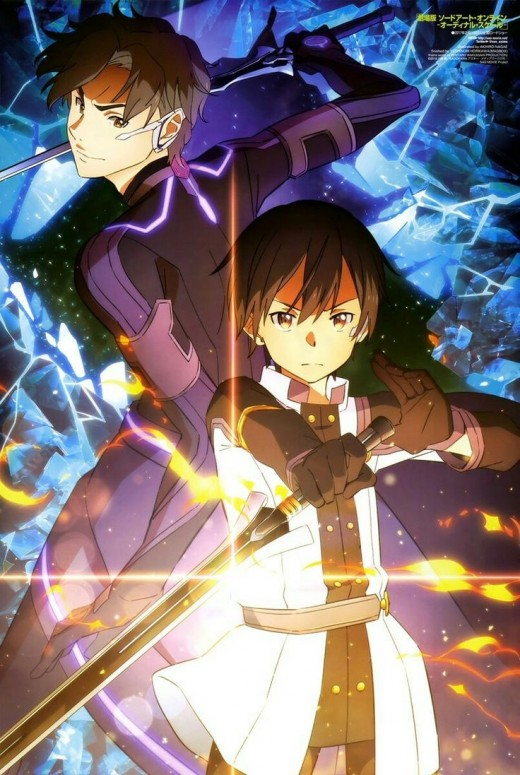 Eiji (left), the perfect rival for Kirito (right)