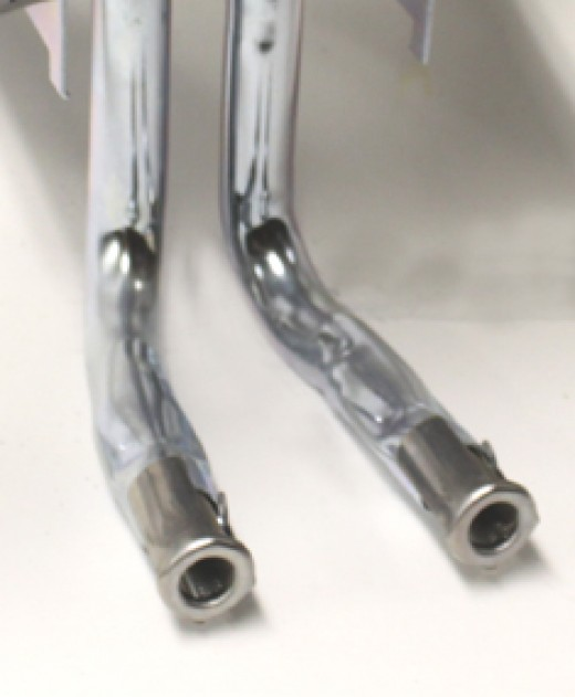 Venturi Tubes connect to the bottom of Oval, H-style and Bow tie burners