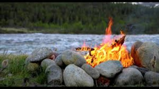 Arthur took baths in the rivers and he started fires to keep warm and to cook his food.