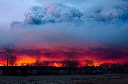 Toronto, Canada wildfire, May 5, 2016.