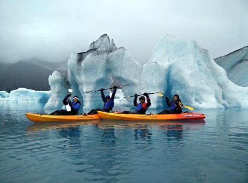 Kayaking in Bear Glacier