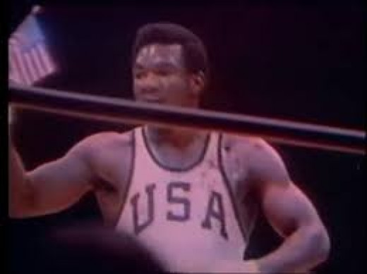 George Foreman won a gold medal as a heavyweight fighting in the 1968 Olympic games.