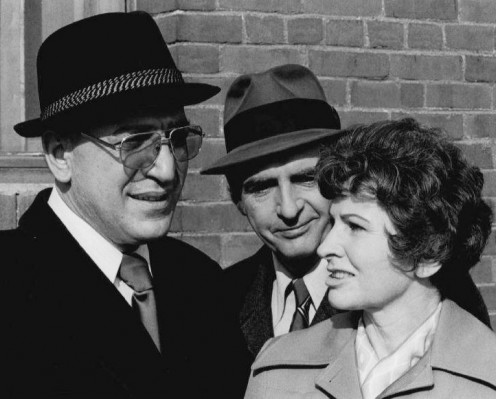 From left, Telly Savalas, Dan Frazer  and Jean LeBouvier from CBS drama, Kojak.
