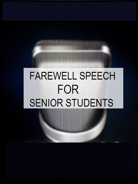 writing a farewell speech One way of saying goodbye is through a farewell speech while presenting a farewell speech may not that be necessary, it is a good way and gesture of showing.