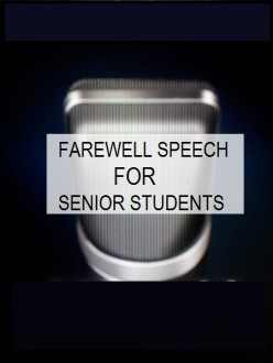 Farewell Speech for Seniors by Junior Students in College