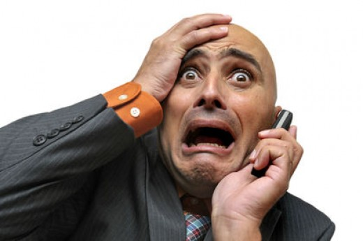 Panic disorders-The person is anxious as to how to complete his/her work.