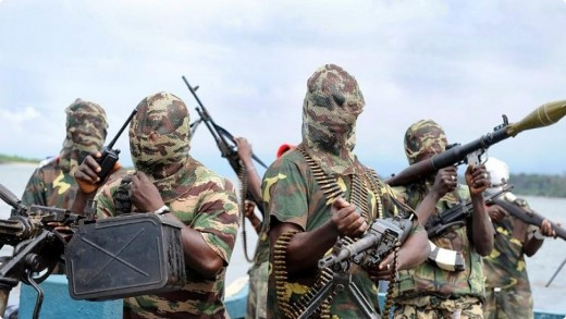 A picture of Boko-haram Kidnappers in Nigeria