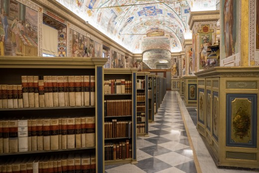 Vatican.  Rome.  One of the few libraries.