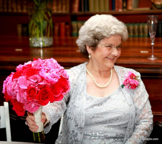 Bridal bouquet given to the bride's grandmother