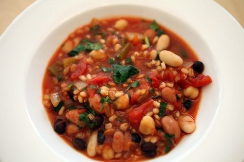 The beans and barley in this Italian soup are rich in healthy soluble fiber. Photo by thepinkpeppercorn.