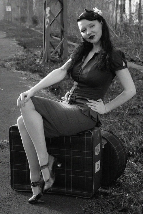 Vintage pin-up girl.