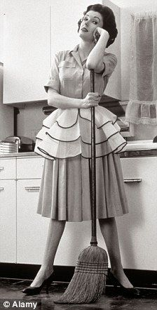 Typical housewife in 1950s