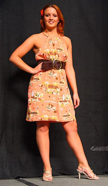 Christina in cool dress.