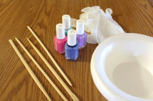 NAIL PAINT, STIRRER, BOWL