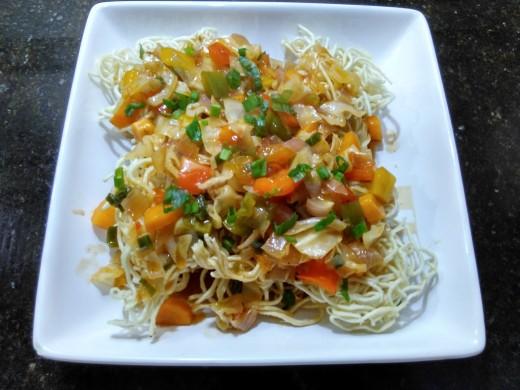 Garnished American chop suey