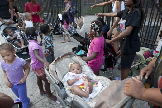 Homeless Family Shelters New York A gathering in front of the Auburn Family Shelter.
