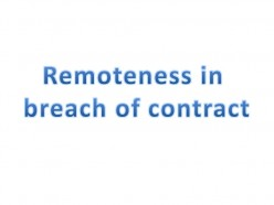 Elements in a Contract XXIII - Remedies -Damages III - Causation & Remoteness II
