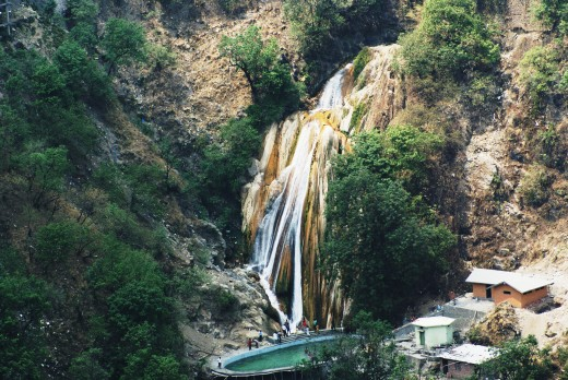 Kempty falls, a beautiful spring near Masuri, a nice hill-station on the way to Yamunotri.
