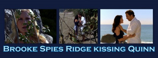 On the eve of her  wedding to Ridge, Brooke found Ridge in Quinn's arms...