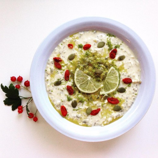 Passion fruit lime zest bircher muesli