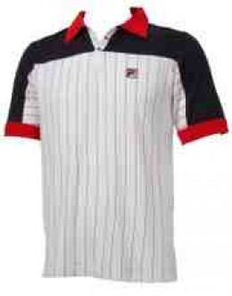 White, blue and red Fila Del Sol polo