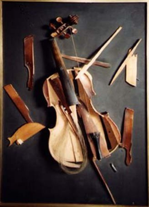 Broken fiddle