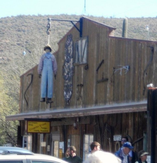 Horse rustlers not allowed, at the general store