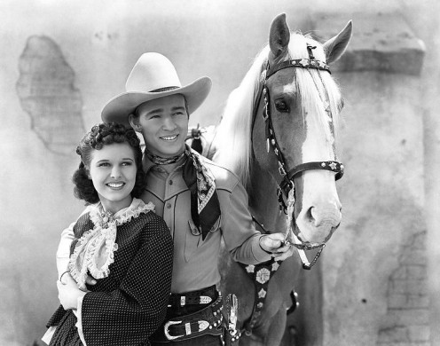 Lynne Roberts and  Roy Rogers in Billy the Kid Returns.
