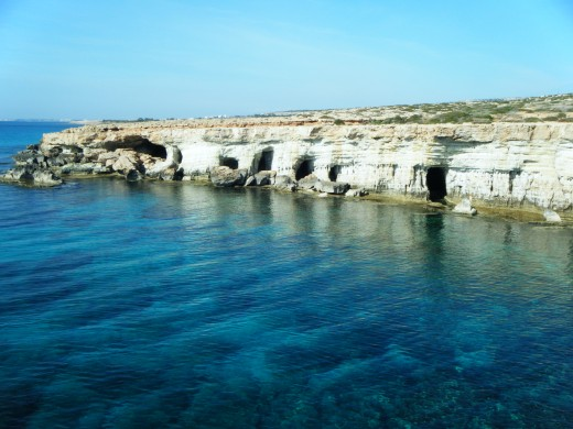 The sea caves of Cyprus are one of the several attractions of the small Mediterranean island.