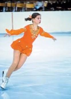 1977 - 1979 Worlds: Anett Pozsch, Linda Fratianne, and Denise Biellemann