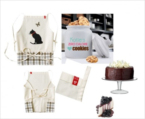 Cool black cat check apron for a country feel!