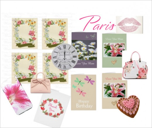 Mainly pink cards for women.