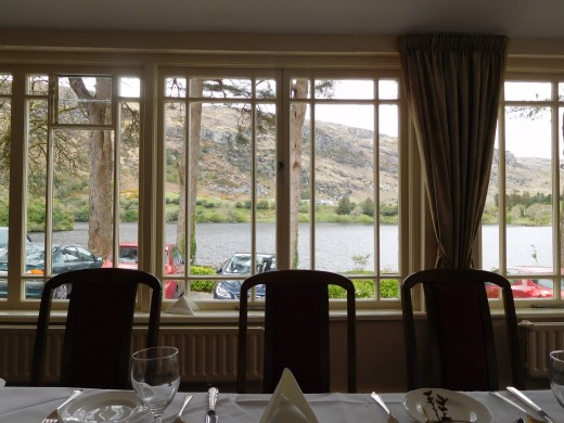 The view from our lunch table at the Gougan Barra Hotel.