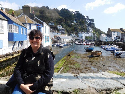 Me in the beautiful fishing village of Polperro, England.