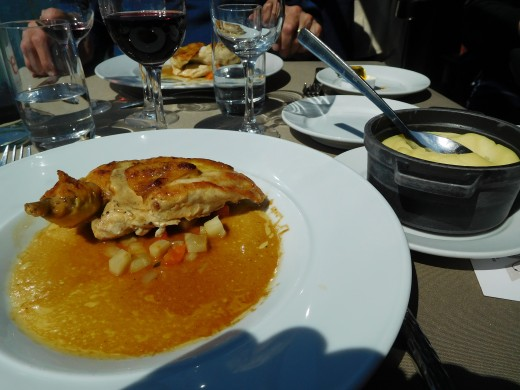 A French lunch on the boat