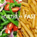 Do you feel you should take 'nutritious balanced diet'rather than filling your tummy with fast food?