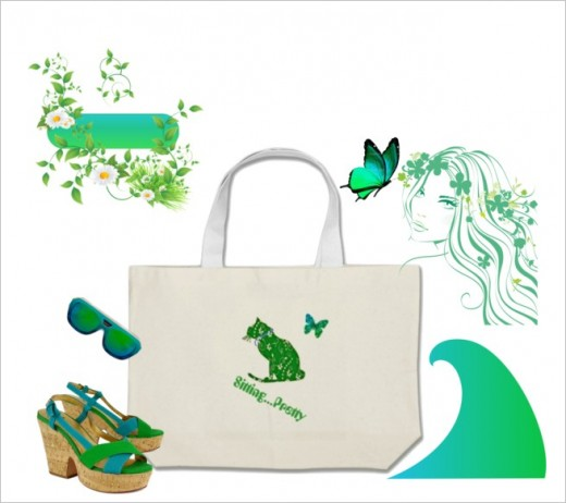 Great beach bag or shopping tote for all your extras!