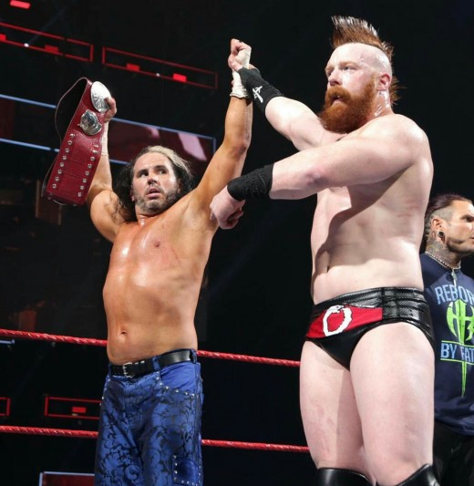 Matt Hardy and Sheamus. Photo:WWE
