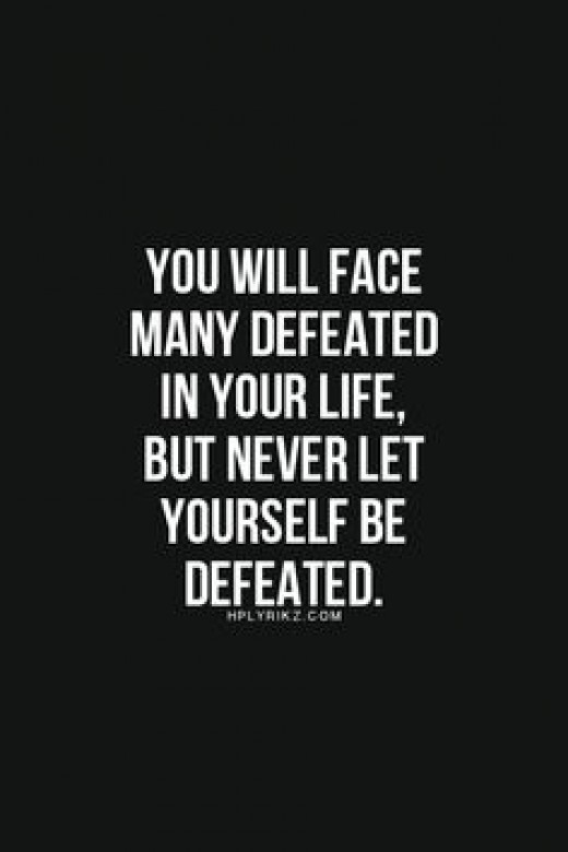 Don't get defeated by your limits push past them and succeed