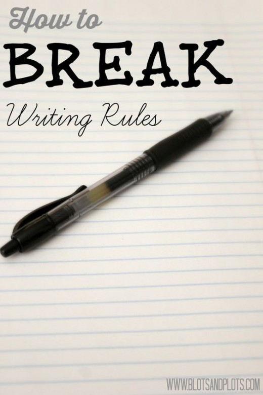 How to take a break from writing by breaking writing rules.