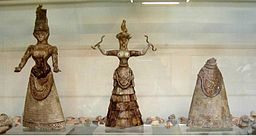 Minoan artifacts depicting the Snake Goddess (Crete)