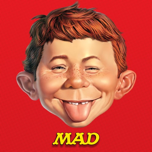 "Alfred E. Neuman, mascot for Mad magazine whose motto was famous for: ""What? Me worry?"""