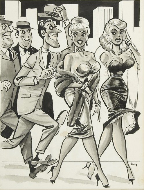 One of Dave Berg's classic pin-up cartoons.