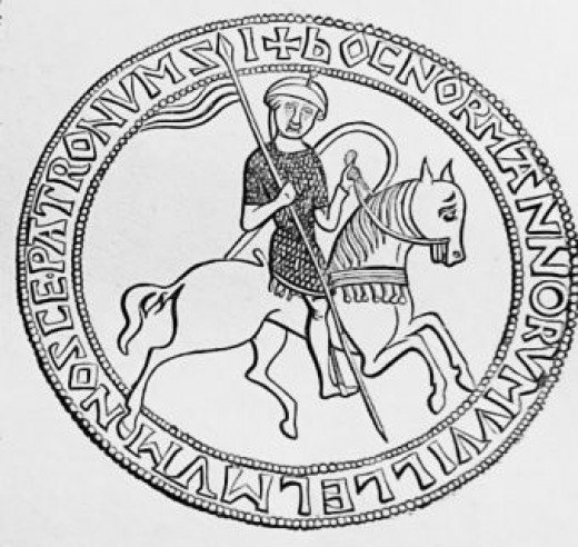 William's Great Seal shows him as he saw himself, the great victor. He was, but his kingship was still in jeopardy five years after his enthronement. Only in 1074 when he forced Malcolm III to sign the Treaty of Abernethy was his kingship secure