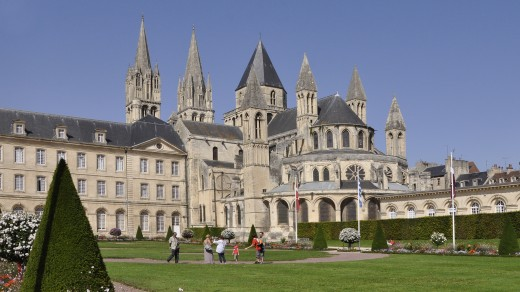 A permanent monument to its patron: the Abbaye aux Hommes in the south-east corner of Caen. Matilda was interred in her Abbaye aux Dames in the north of the city.