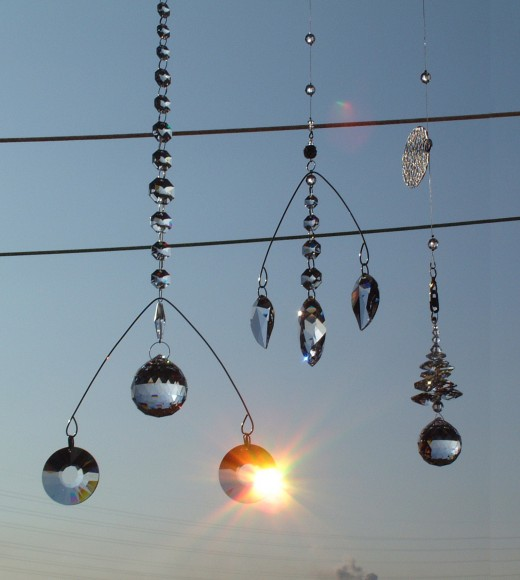 Hang your suncatchers in a window or place that gets lots of sunlight!